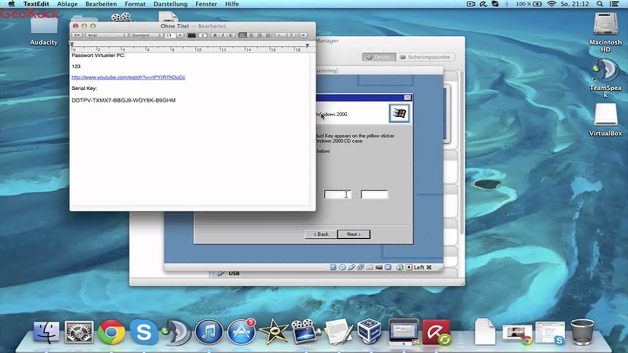 VirtualBox Tutorial Windows 2000 KOSTENLOS GERMAN HD - YouTube