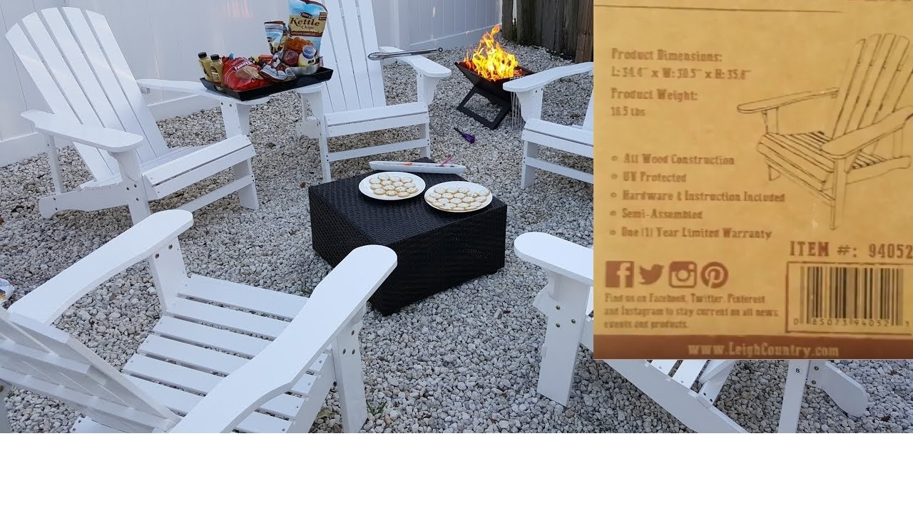 Adirondack Chair Leigh Country Instructions And Warranty Information