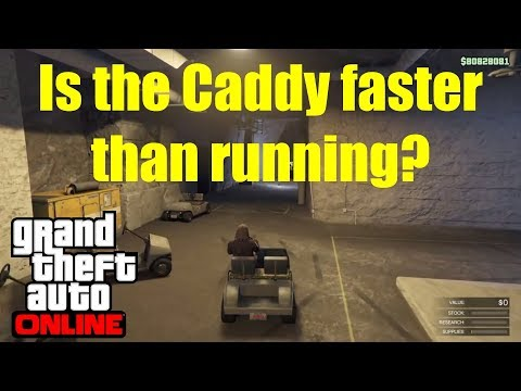 Which is the fastest Bunker Transport? - Caddy V On Foot - GTA Online
