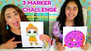3 MARKER CHALLENGE! B2cutecupcakes