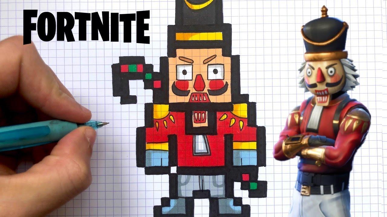 How To Draw Crackshot Pixel Art Fortnite