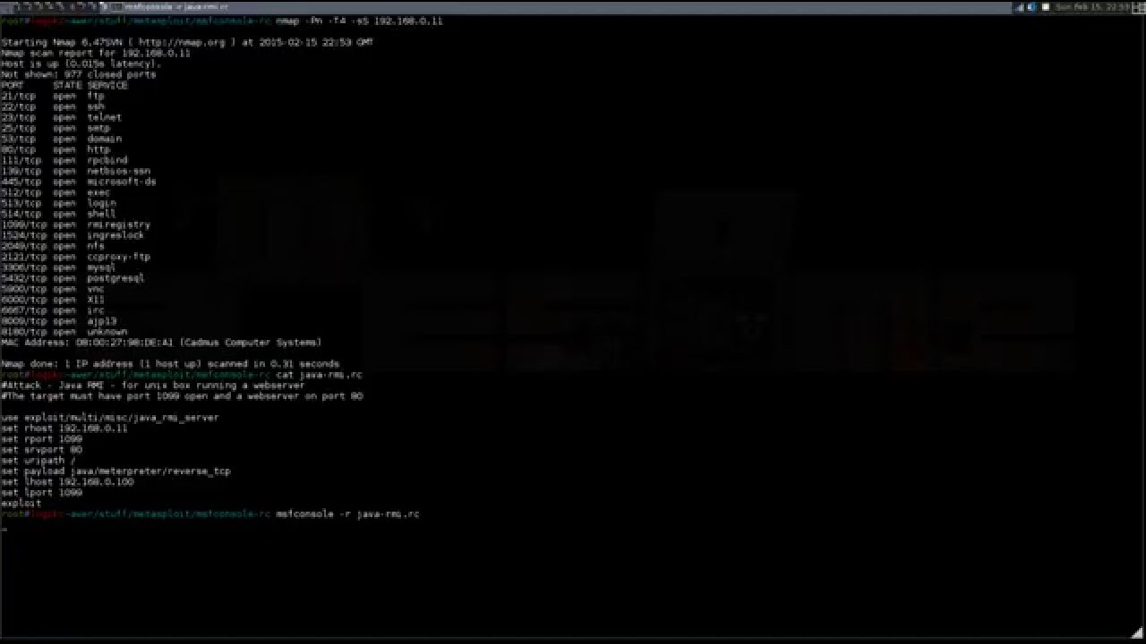 Metasploit - Exploiting Java RMI Server Configuration Code Execution