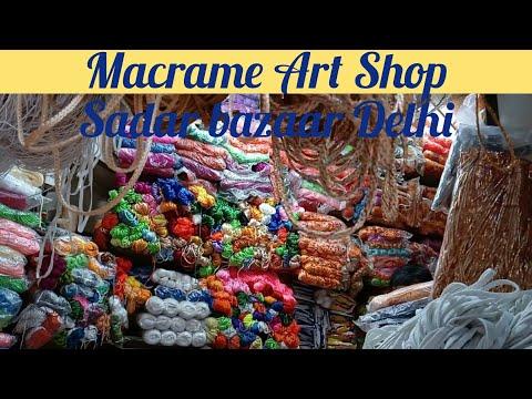 How to make this video macrame art saman in sadar bazaar