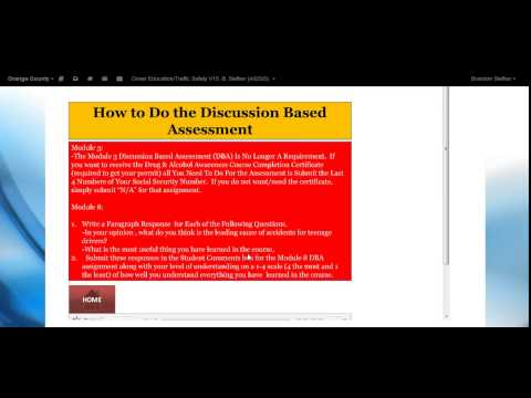 Drivers Education-Welcome Video