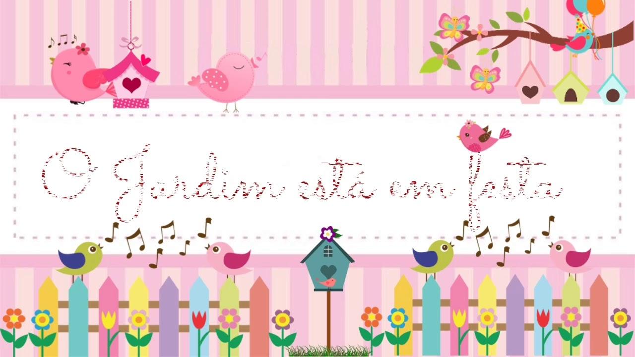 Convite Animado Jardim Encantado Youtube