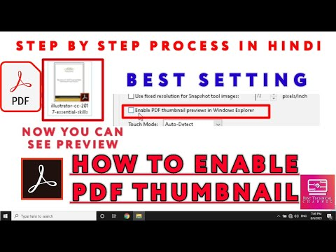How To Enable Pdf Thumbnail Preview In Windows 10 | How To Fix PDF Thumbnail Not Showing