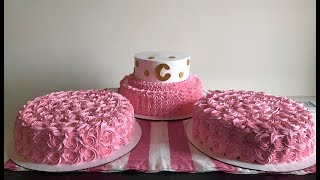Decorando pasteles para 125 personas