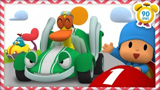 🚗 POCOYO in ENGLISH - Car Racing [ 90 minutes]   Full Episodes   VIDEOS and CARTOONS for KIDS