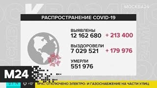 Число заразившихся коронавирусом в мире превысило 12 млн - Москва 24