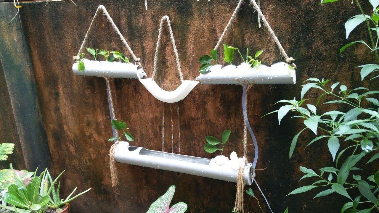 Make Hanging Pvc Planted Aquarium Fountain Diy Hydroponics Garden Decor Youtube