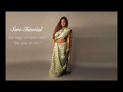 Sari Tutorial Wie Trage Ich Einen Sari Youtube