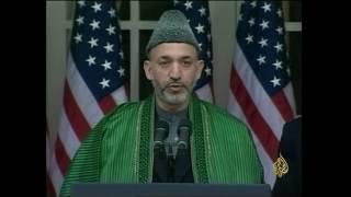 أرشيف - بوش يتعهد بإعادة إعمار أفغانستان