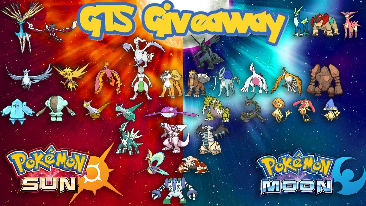 Pokemon Ultra Sun Legendaries Giveaway
