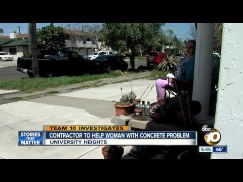 Contractor to help woman with concrete...