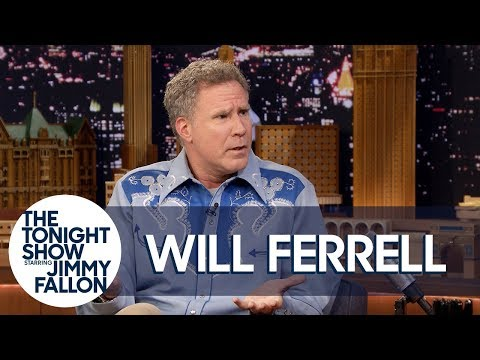 Will Ferrell Channeled Ron Burgundy for an  with Roger Federer