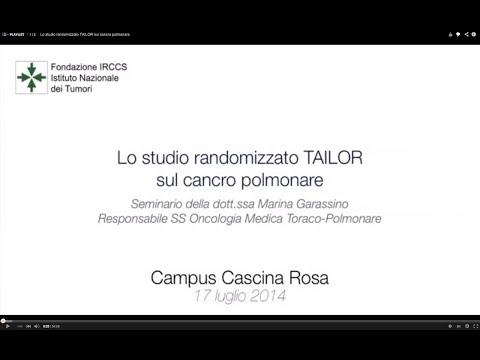 Lo studio randomizzato TAILOR sul cancro polmonare
