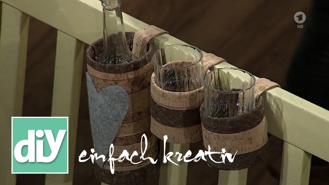 flaschenhalter aus kork f r wanderer diy einfach kreativ youtube. Black Bedroom Furniture Sets. Home Design Ideas