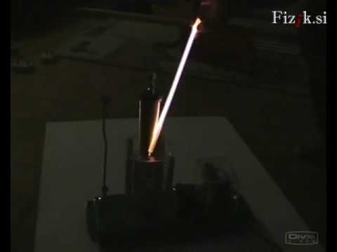 Tesla's high voltage coil - physics experiment