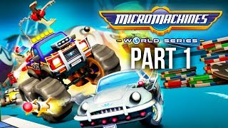 MICRO MACHINES WORLD SERIES Gameplay Walkthrough Part 1 - THE NOSTALGIA (PS4 Full Game)