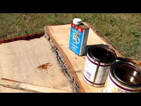 Heavy application of pine tar/turpentine