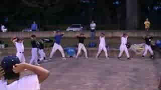 ゼロポジションから投げる練習
