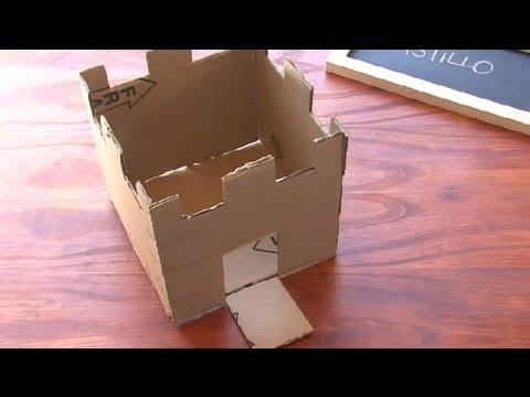 C mo construir un castillo de caja de cart n - Como hacer manualidades ...