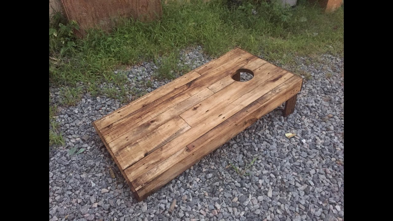 Wooden Corn Hole Game How to Build Cornhole Boards DIY Wood YouTube 29