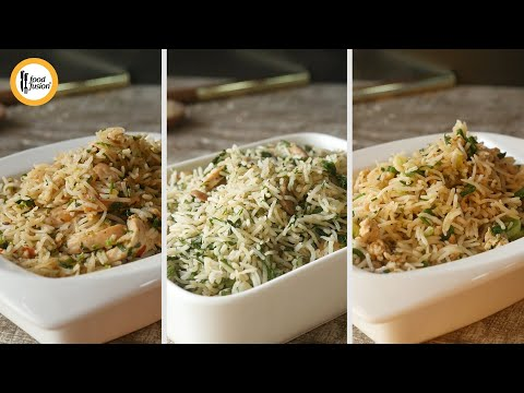 Fried Rice 3 Green Ways By Food Fusion