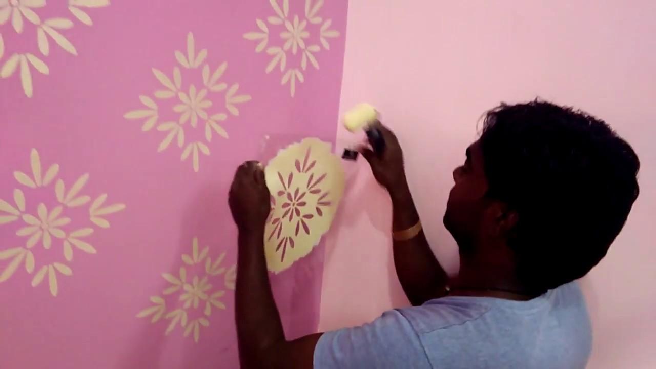 Asain Paint New Wall Fashion Disgin Stencils