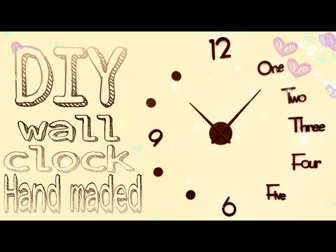 DIY Large Wall Clock Decor| Wall Decorating Idea.| Christmas Clock Part 2 | Creative Hub