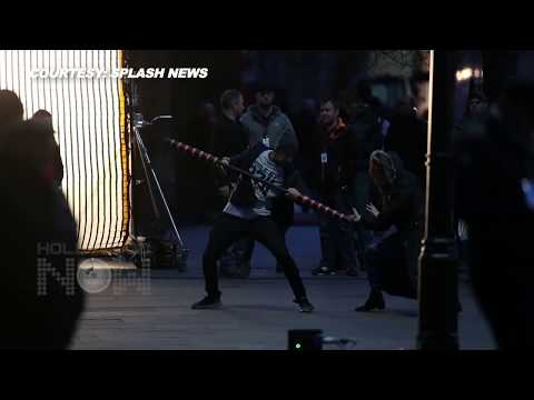 Avengers Infinity War ON SET FOOTAGE | Elizabeth Olsen Shooting Action Scene | Scarlet Witch