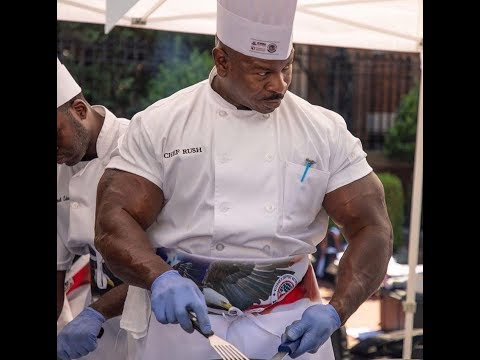 White House Chef Andre Rush Is HUGE