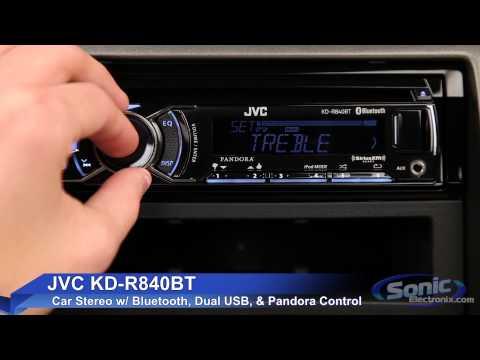 JVC KD-R840BT Car Stereo w/ Bluetooth & Dual USB Connections on