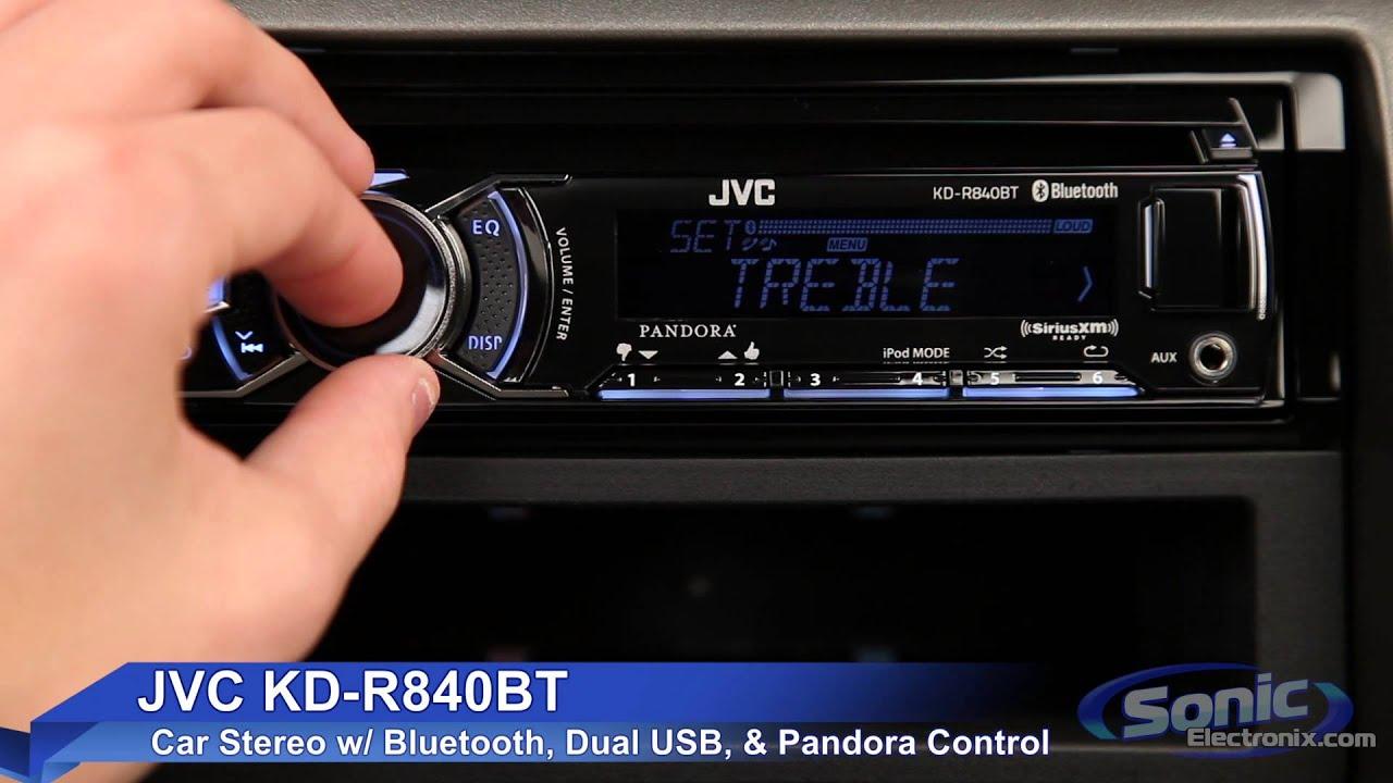 jvc kd r840bt car stereo w bluetooth dual usb connections [ 1280 x 720 Pixel ]