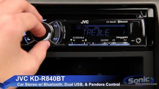 JVC KD-R840BT Car Stereo w/ Bluetooth & Dual USB Connections