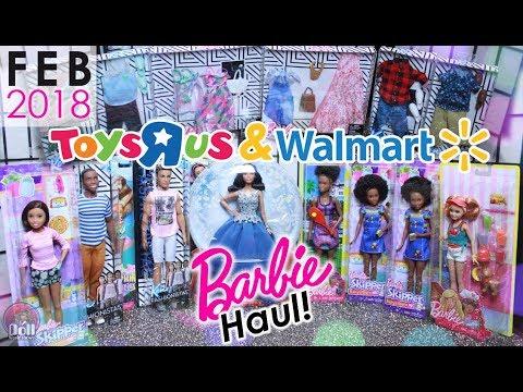 VLOG! Barbie Doll Haul February 2018! Toys R Us & Walmart