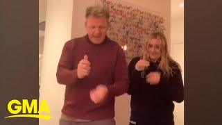 Gordon Ramsay dancing with his daughter is just the quarantine energy we need | GMA Digital