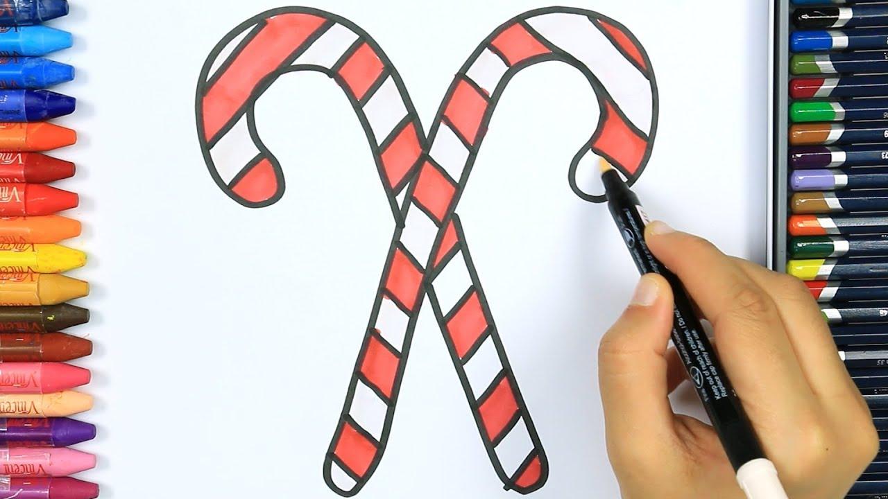 Cara Menggambar Permen Natal Cara Menggambar Dan Mewarnai Tv Anak