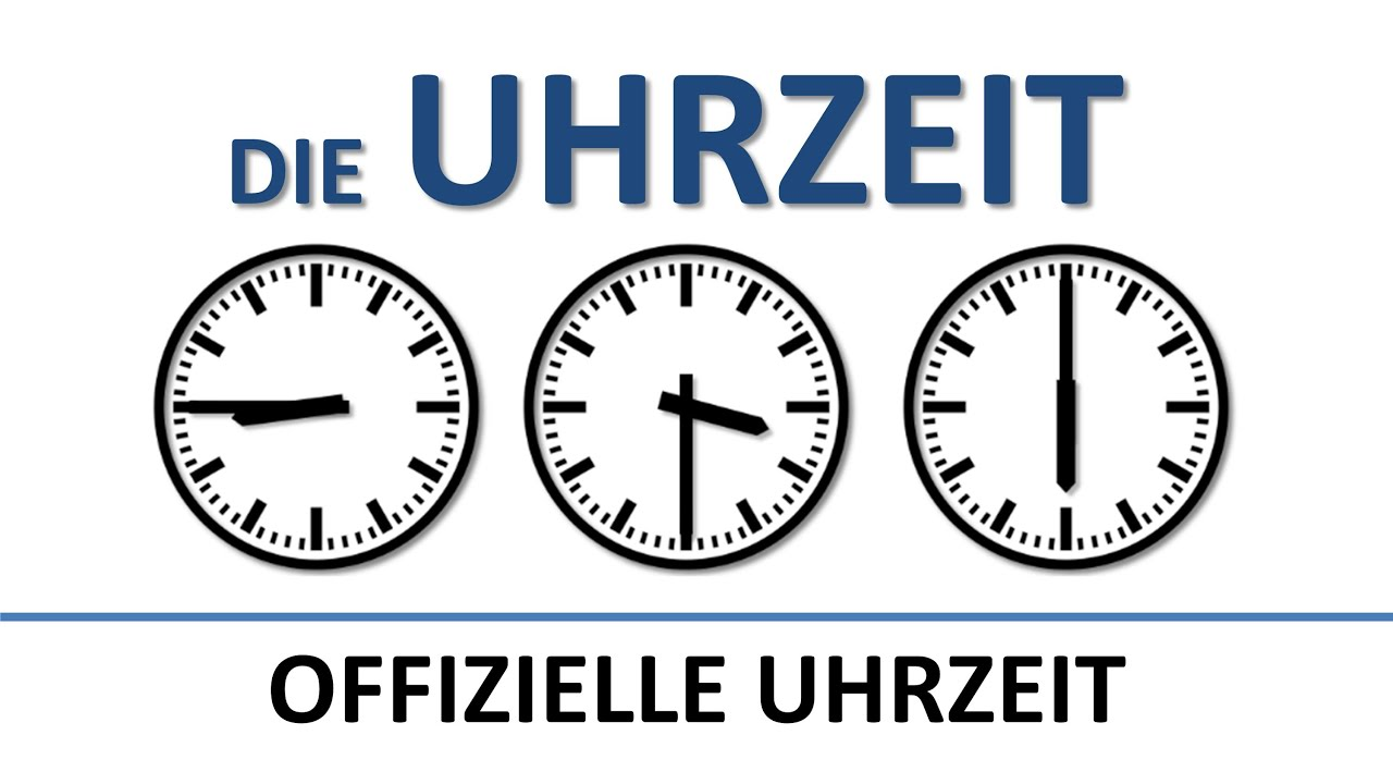 Deutsch lernen: die Uhrzeit (offiziell) (deutsche Untertitel)/the (official) time