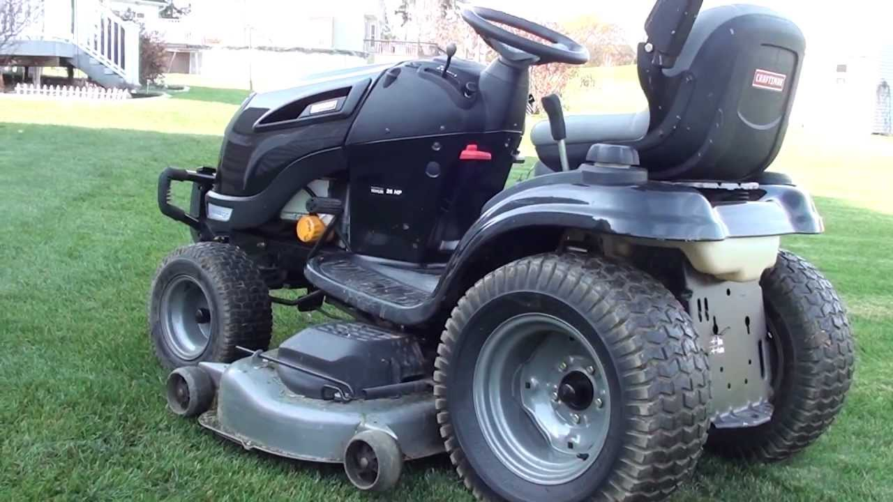 Craftsman Gt5000 Garden Tractor Manual : Craftsman gt last cut youtube