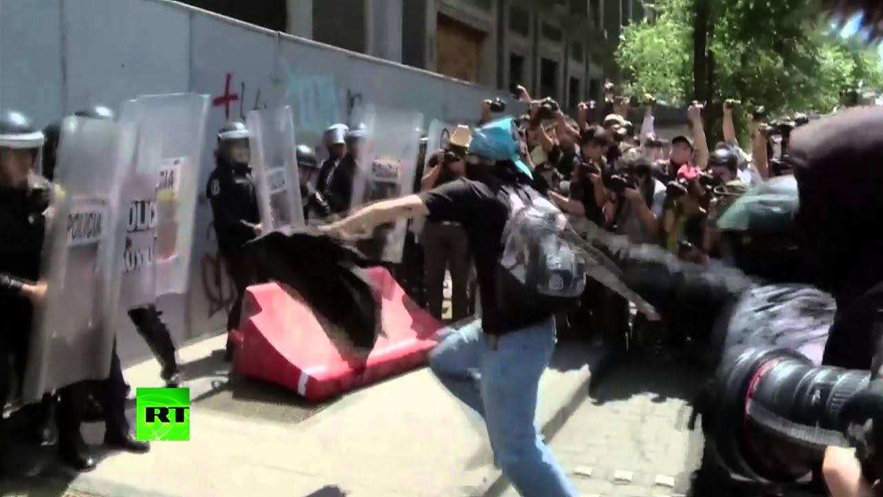 Первомайские демонстрации в Латинской Америке закончились столкновениями