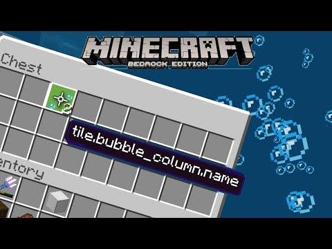 BUBBLE COLUMN BLOCK Farm 100% In Survival! Minecraft Bedrock (Tutorial) MCPE/Xbox/Windows/Switch