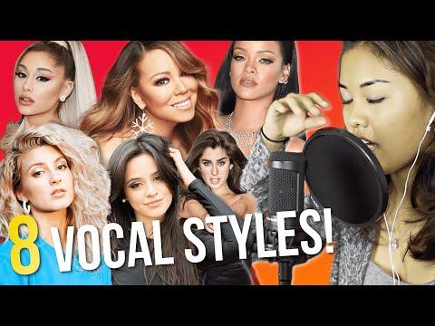 8 VOCAL STYLES (Mariah Carey, Ariana Grande, Tori Kelly, Camila Cabello etc.)