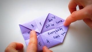 Origami - How to use and play with a Fortune Teller (Paku-Paku)