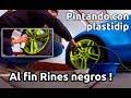 Cómo Pintar rines con plastidip o pintura plastica. Proceso. Pasos. Negro. Cambio Color. Concejos