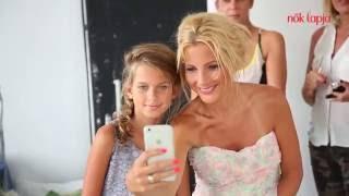 Nők Lapja címlapfotózás - Várkonyi Andrea és lánya, Nóri