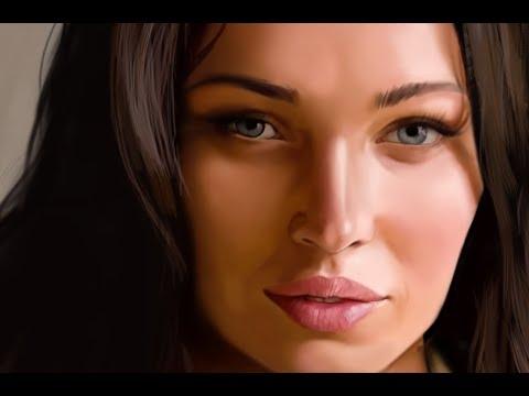 Арт Меган Фокс - Speedpainting  -  живопись - портрет ◈ Photoshop ◈ цифровая графика ● CG ●