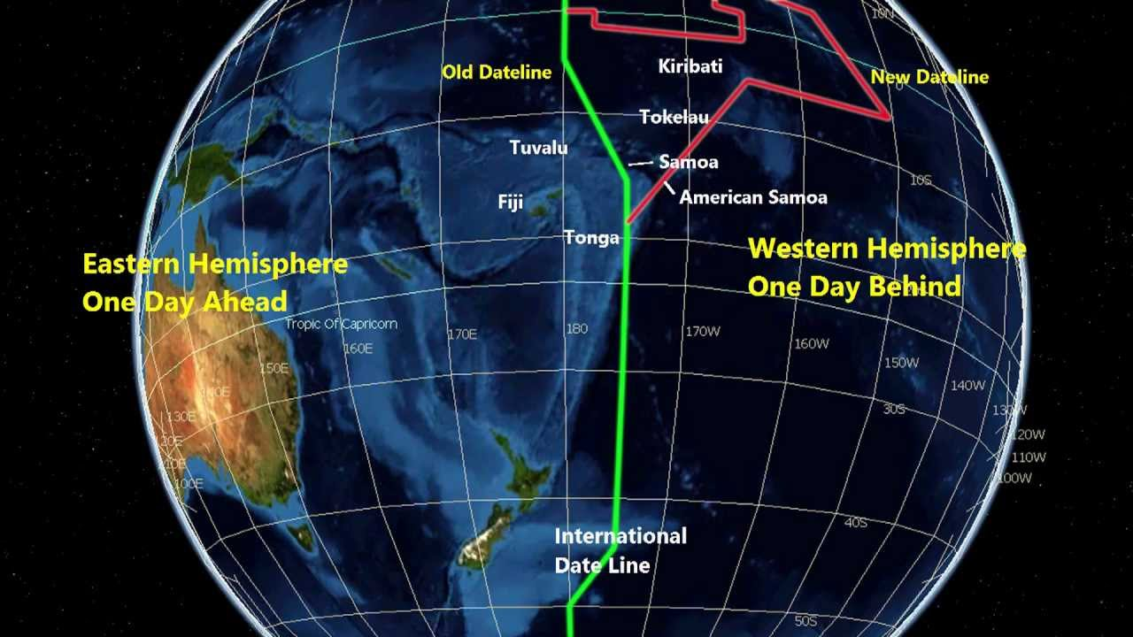 How does the international date line work in Perth