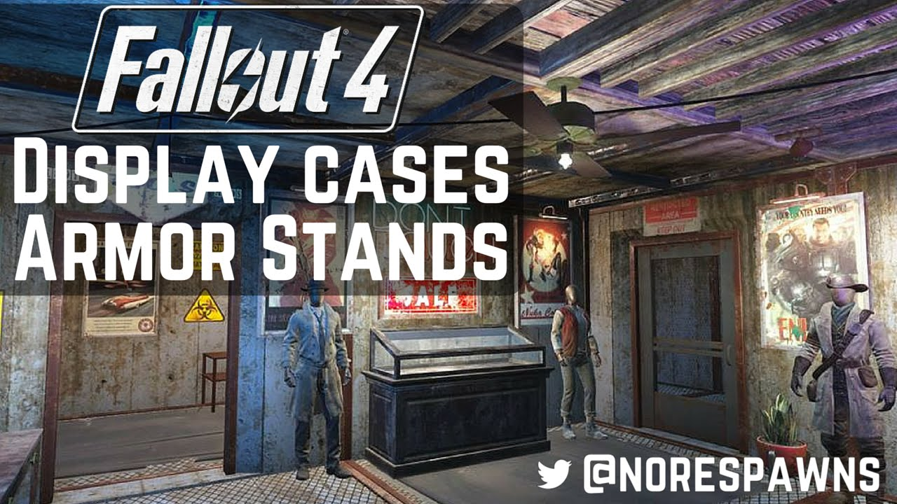 Trade Stands Fallout 4 : Fallout contraptions display cases armor stands