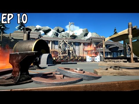 Dwarven Foundry Station | Planet Coaster Gameplay | Floorless Coaster